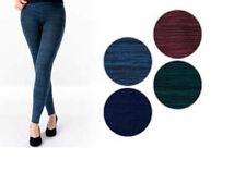 Thermo Leggins Melange in modischen, dezenten Farben Schwarz, Blau, Grün, Rot