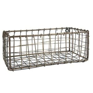 Wall Metal Antique Brass Basket Wire / Storage Organizer by Ib Laursen
