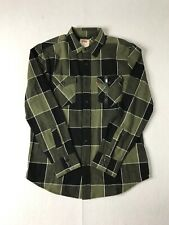 Levi's Western Style Double Pocket Plaid Flannel Long Sleeve  Shirt Men's Small