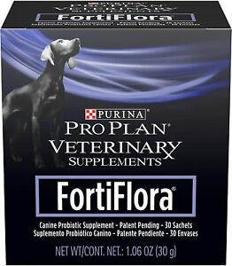 Purina FortiFlora Probiotics for Dogs, Pro Plan Veterinary Supplements 1 Pack