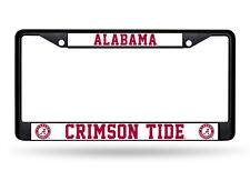 Alabama Crimson Tide Black Chrome License Plate Tag Frame FREE SHIP NCAA Genuine