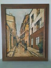 Oil On Canvass Cityscapes By Maurice Utrillo