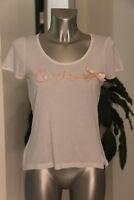 Joli tee-shirt manches courtes blanc cassé brodé LE TEMPS DES CERISES   taille S