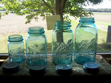 4 piece set of Vintage Ball perfect Mason canning jars. Canister Set or display