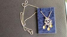 Joli Collier en Argent Massif Poinçonnée 925 Silver 40 cm avec pendentif Argent