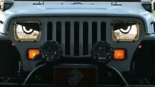 87-96 Jeep Wrangler YJ Wagoner Comanche Cherokee Angry Eyes Mad Headlight Decal