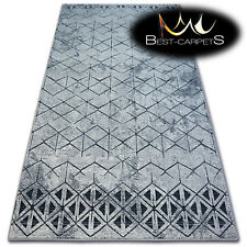 "beautiful NATURAL WOOL RUGS novelty grey ""SPLENDOR"" thick and durable carpet"