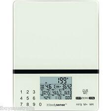 Bodysense 5kg/1g Electronic Digital Kitchen Nutrition Calorie Diet Scales 61222