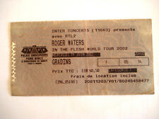 TICKET CONCERT * ROGER WATERS * PINK FLOYD * PARIS BERCY 2002 ROCK MUSIC