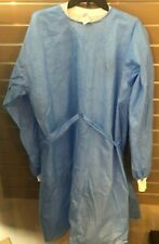 10x Level 2 Disposable Isolation Medical Gowns Blue with Knit Cuffs NEW in Bag