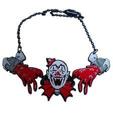 Kreepsville 666 Creepy Clown Goth Spooky Punk Halloween Bloody Necklace JCCN