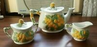 Vintage Tea pot with matching sugar and creamer