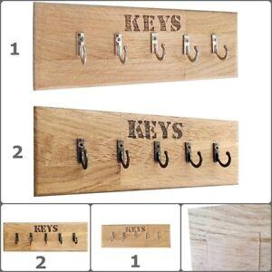 Eiche Wandschlüsselhalter Schlüsselbrett Schlüsselleiste Selbstklebend