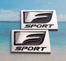 2x F-Sport 3D Metal Emblem Side Fender Badge For Lexus IS250 350 GS35 450 Silver