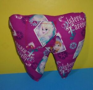 Handmade Pocket Tooth Fairy Pillow Disney Frozen Sisters Forever Elsa & Anna