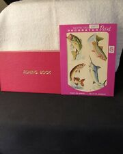 Fishing Recording Book (Unused) & 1 sheet of Fish Decals