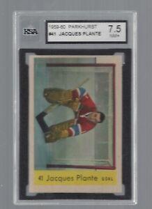 1959 Parkhurst #41 Jacques Plante, HOF, KSA 7.5 NM+, Vintage Canadiens 1959-60