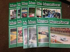 Motor Sport Magazine - Complete Year of 1971 (12 editions) - Motorsport Magazine