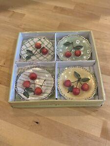 New in Box MWW Market Cherry Pickin' Mini Plates 3D Wall Hanging Plates