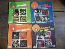 chantez les enfants - 1,2,3,4 - RTF -  disques unidisc  EX 45 / 396-398- 400 - 4