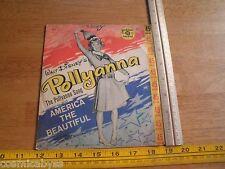 1960 Walt Disney's Pollyana 45rpm record Nathalie Foss VG++ Jimmy Carroll Orch