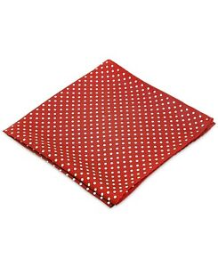 Ryan Seacrest Men's Style Polka Dot Basic Red White Pocket Square