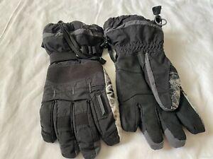 Columbia Omni-Tech Men's Size Medium Black Waterproof Ski Snowboard Gloves EUC
