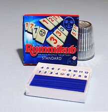 Dollhouse Miniature 1:12 scale Rumikub Game Box 1970s 80s Dollhouse game toy box