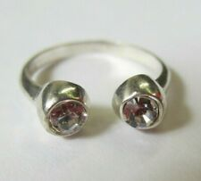 3mm Cz in Solid 925 Sterling Silver Adjustable Toe Ring Jewelry