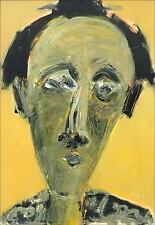 Victor HASCH - HUILE SUR TOILE - Portrait au fond Jaune - Certificat - 110x75 cm