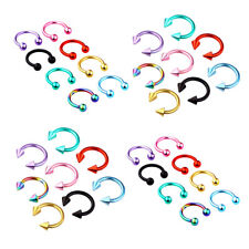 4X Surgical Steel Horseshoe Bar Lip Nose Septum Ear Ring Stud Ball Cone Piercing