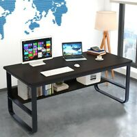 Wood Computer Desk PC Laptop Table Study Workstation Folding Home Office School`