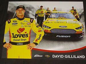2015 DAVID GILLILAND #38 LOVE'S TRAVEL STOPS VERSION 2 NASCAR POSTCARD