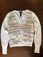 NWT Jcrew Collection Roxie Ruffle Cardigan Long Sleeve Sweater Top Sz S