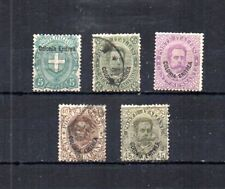 ITALIAN ERITREA LATE 1800S-EARLY 1900S. 5 UNUSED AND POSTALLY USED STAMPS