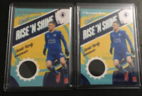 2x 2019-20 Chronicles Soccer Rise'N Shine JAMIE VARDY Patch Relic LEICESTER CITY