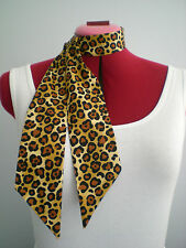 Rock n Roll/Rockabilly Neck Scarf/ Hair Tie. Leopard Print.