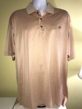 Callaway-Rolling Green 2 Ply Cotton-Light Orange Golf Mens Polo Shirt Size Large