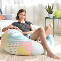Large Bean Bag Chair Cover Comfortable Spandex Gaming Sofa Seat For Adult Kids