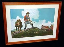"1976 N.W. Framed Print 74/500 ""US Marshal"" by Jim Daly (Cha)"