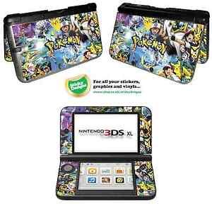 Pokémon Vinyl Skin Sticker for Nintendo 3DS XL