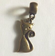 pendentif bronze chat 25x13mm