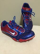 Nike Zoom Bowerman 2VL Track and Field Spikes Shoes 7  Blue And Red Running
