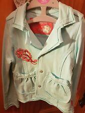 pampolina age 3 girls pale blue jacket mint