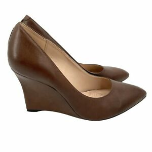 Clarks Womens Brown Wedge Pump Azizi Isis Narrative Collective Leather  US 7.5 M