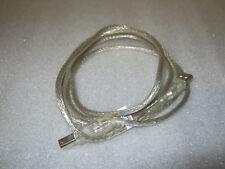 Computer Scanner Drucker Kabel Verbindungskabel transparent 1,5 m USB A/B