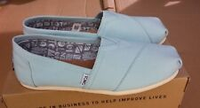 TOMS Classic Canal Blue Canvas Ladies Shoes