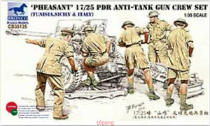 Bronco 1/35 #CB35135 Pheasant 17/25 Pdr Anti-Tank Gun Crew Set Hot