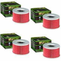 Hiflofiltro HF111 Oil Filter 4 Pack Honda CB250 400 450 CM250 400 450 GL500 650