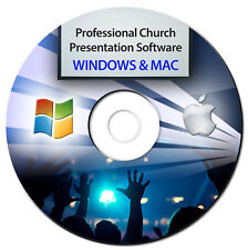 NEW 2018 Professional Church Worship Presentation Software-Bible Screen Video-CD